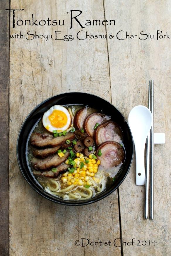 recipe tonkotsu ramen pork bone broth soup homemade chashu pork belly shoyu soft boiled egg