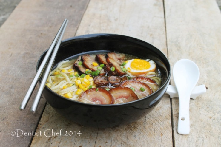 recipe tonkotsu ramen with pork chashu shoyu tamago soft boiled egg and red roasted pork char siu