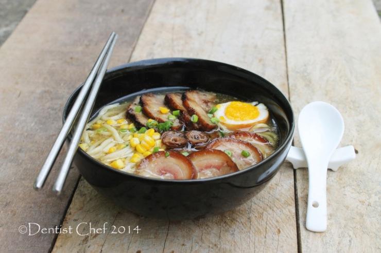 recipe tonkotsu ramen with pork chashu shoyu tamago soft boiled egg and red roasted pork char siu