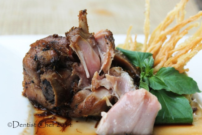 recipe turkey leg confit herbs oil