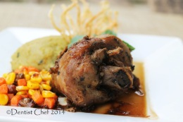 Recipe Turkey Leg Confit with Mashed Celeriac Celery Root