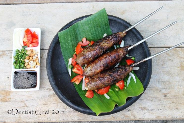 resep sate buntel kambing masakan khas solo minced lamb kebab wrapped in caul fat