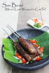 resep sate buntel kambing recipe lamb kebab minced meat wrapped in caul fat