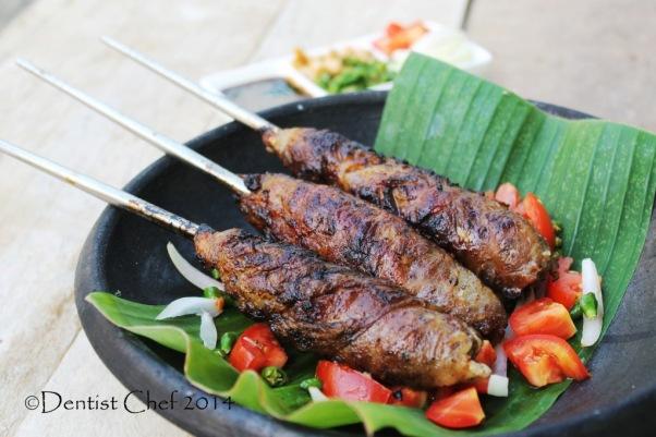sate buntel resep makanan solo surakarta sate kambing cincang minced lamb kebab in caul fat netting