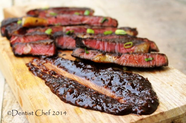 savoury chocolate sauce recipe steak ribeye coffee chili crusted beef
