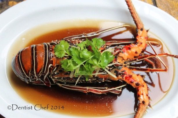 steamed lobster recipe chinese style soy sauce mushrooms ginger garlic bamboo lobster