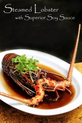 steamed lobster with superior soy sauce chinese style