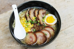 Recipe Tonkotsu Ramen (Japanese Pork Bone Noodle Soup) with Chashu Pork Belly & Shoyu Tamago Soy Sauce Marinated Soft Boiled Egg