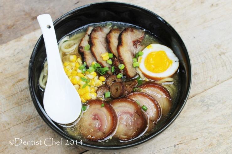 tonkotsu ramen with chashu and tamago soft boiled egg japanese pork broth noodle