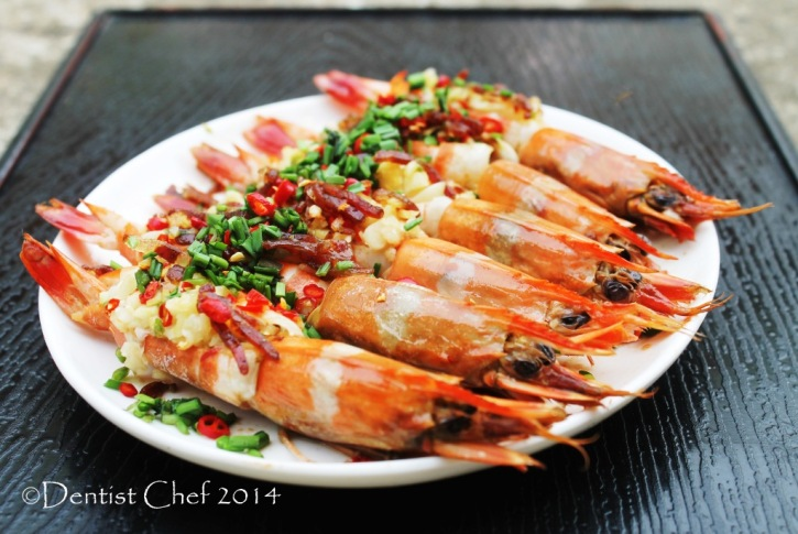 recipe prawn xo sauce steamed shrimp garlic chili chives ginger chinese sausage lap cheong