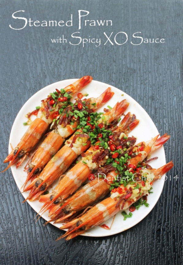 recipe steamed prawn xo sauce shrimp garlic chili ginger chives chinese sausage