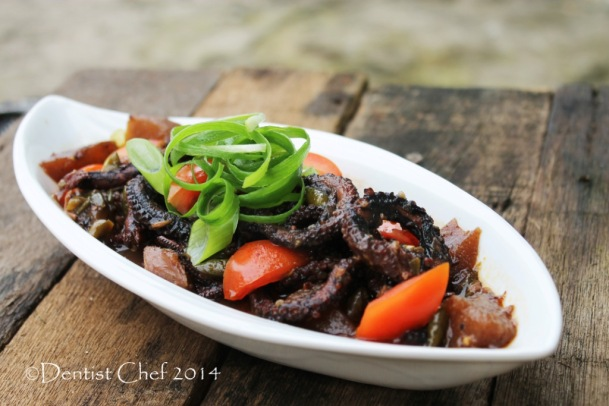 RESEP GURITA BUMBU TAUCO PEDAS CABE BABY GURITA OCTOPUS STEWED SPICY TOMATOCHILI  COCONUT CURRY  FERMENTED SALTED BEAN