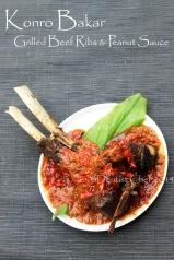 resep konro bakar iga sapi karebosi barbequed beef ribs peanut sauce