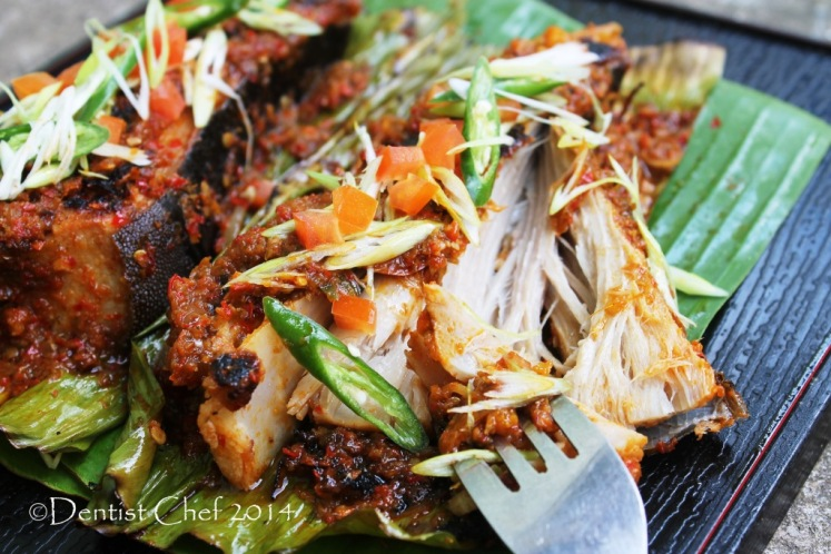 sambal stingray grilled skate fish ikan pari bakar
