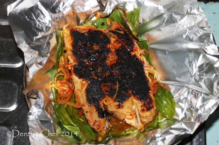 sambal stingray recipe barbequed skate fillet chili sauce spicy wrapped banana leaves