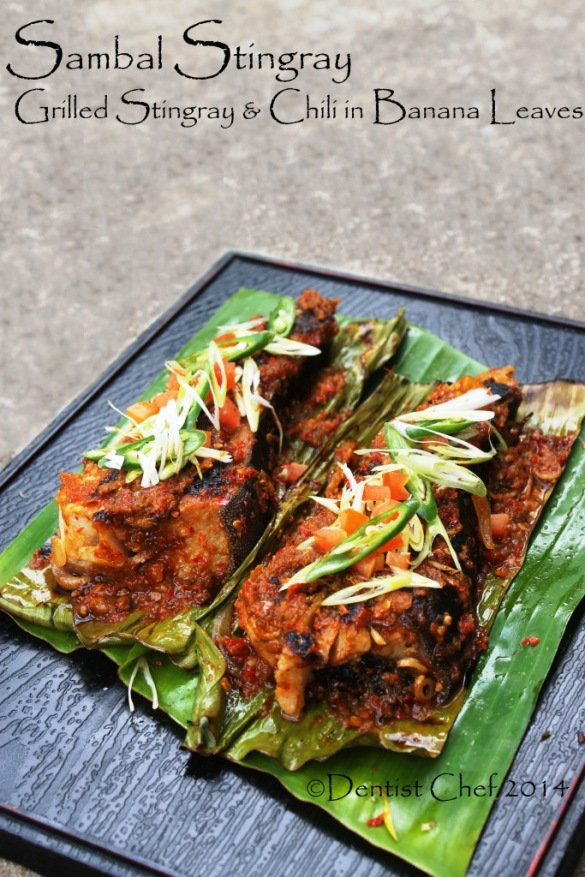sambal stingray recipe grilled ikan pari bakar spicy chili sauce barbequed skate wing