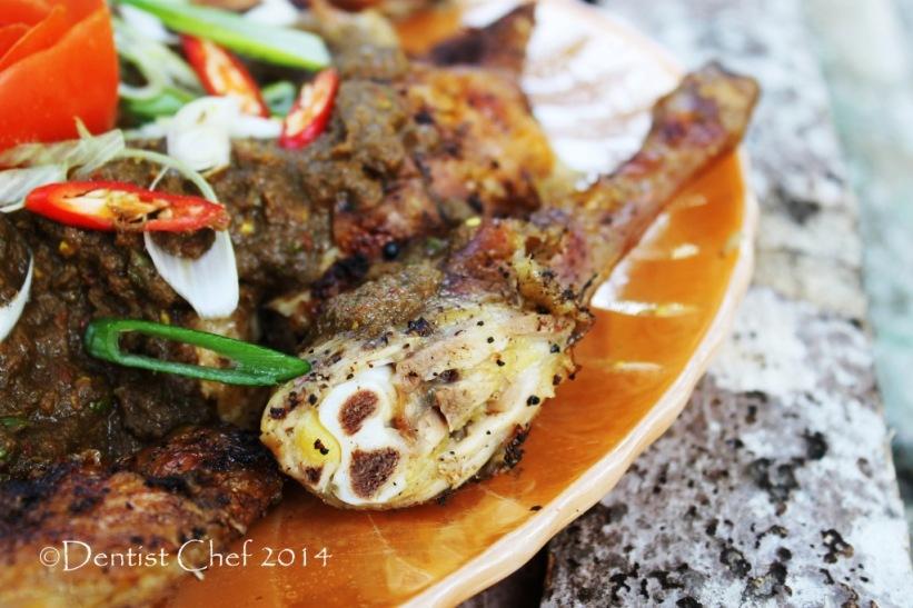 ayam panggang bakar bumbu andaliman  pedas