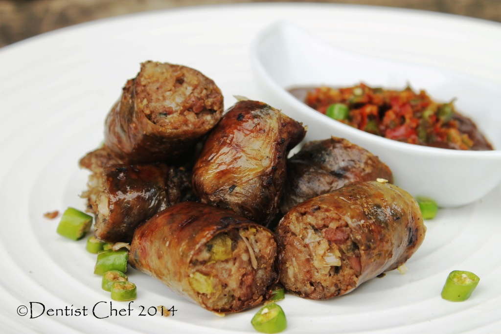 kidu kidu sosis batak karo usus babi isi daging sayuran
