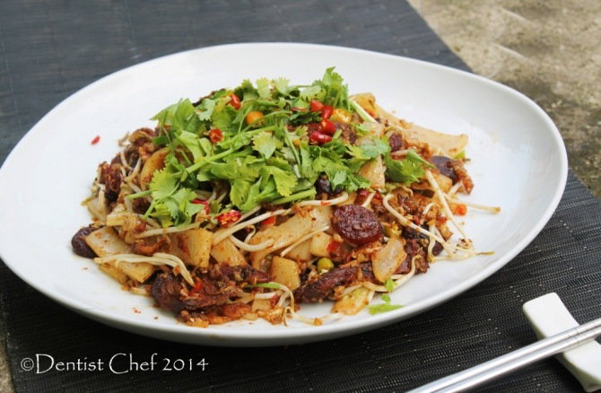 recipe beef char kway teow wagyu beef xo sauce stir fry wagyu beef rice flat noodle singapore stree food recipe resep kwetiaw sapi