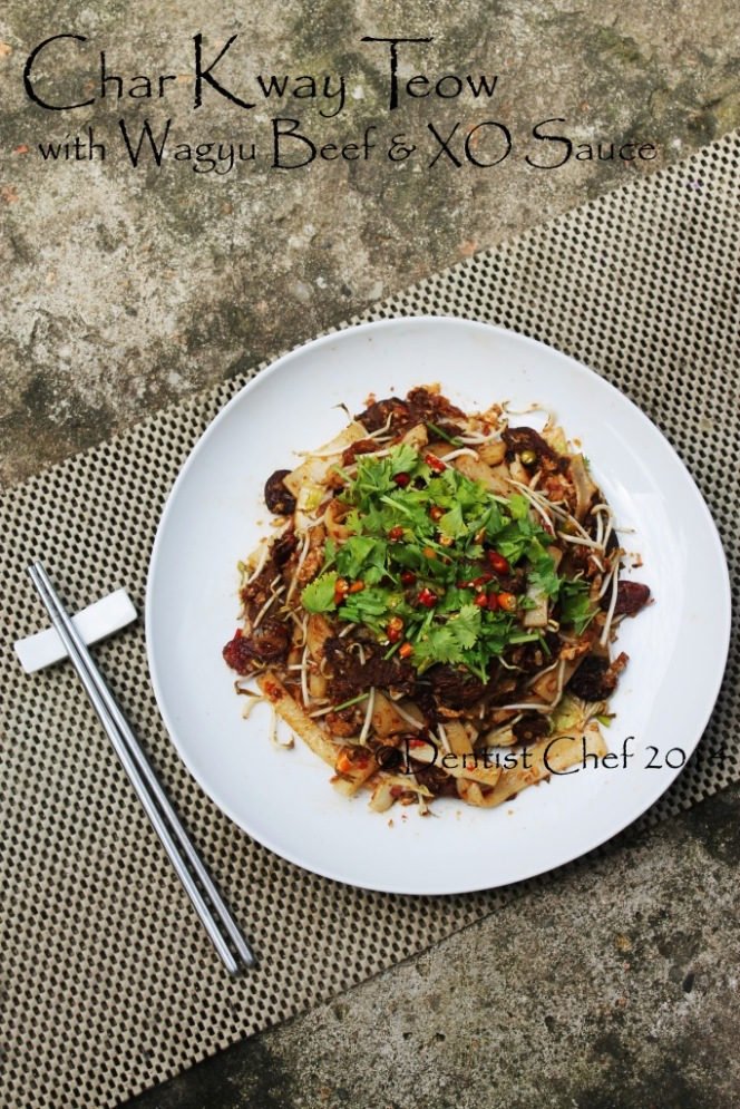 recipe beef char kway teow wagyu xo sauce stir fried flat rice noodle thin sliced beef egg beansprout