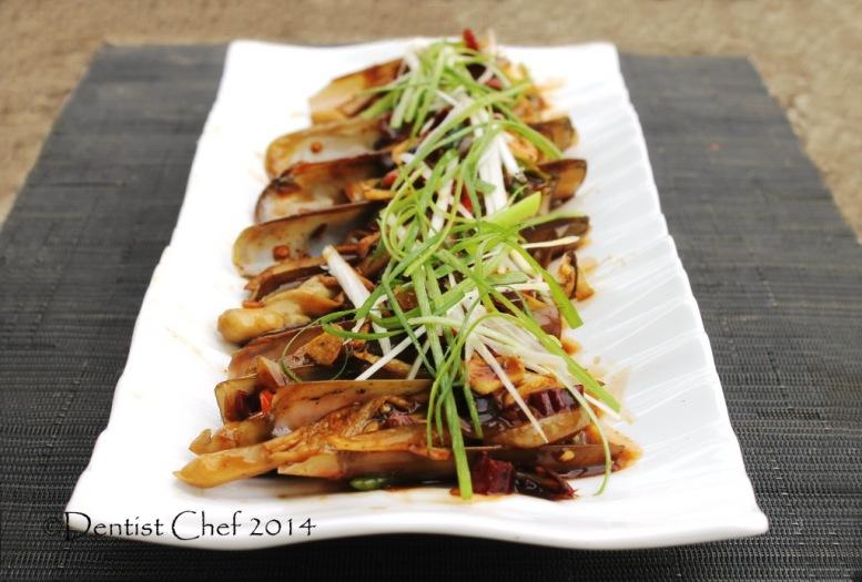 recipe razor clams stir fry oyster sauce jackknife clams chili garlic ginger scallion parific razor clams