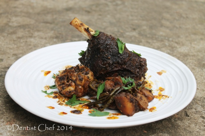recipe roasted goat leg kid cabrito tender spicy harissa baked oven potato rosemarry