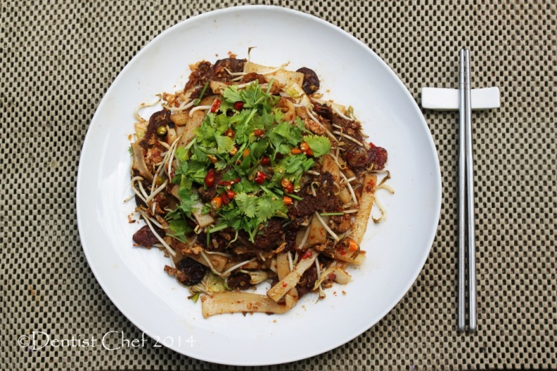 resep kwetiau goreng sapi jambi stir fry beef kway teow flat rice noodle wagyu beef xo sauce recipe