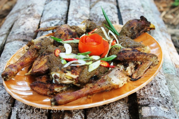 resep manuk napinadar ayam gota darah masakan batak ayam panggang