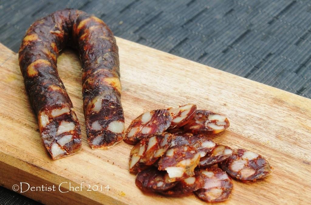 pig intestine casing sausage pork chorizo | DENTIST CHEF