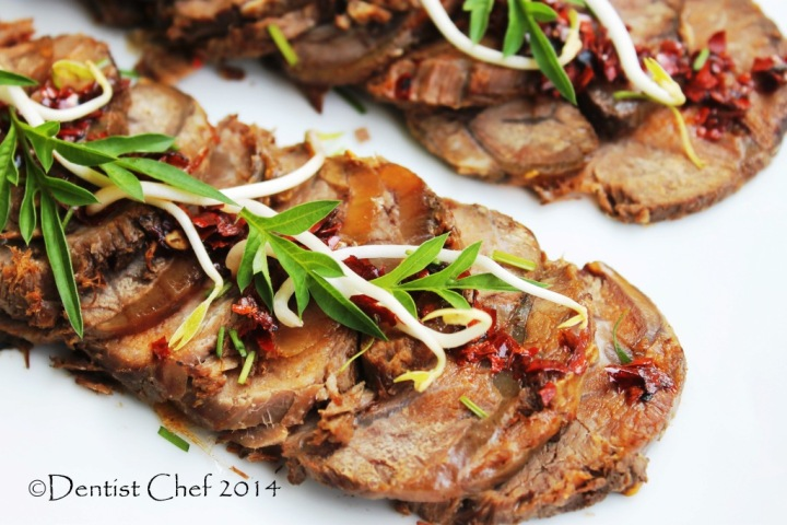 recipe braised beef shin soy sauce sliced beef shank cold appetizer chili szechuan peppercorn recipe