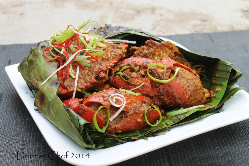 resep kepiting asap papua recipe smoked crab spicy chili shallot garlic paste curry mud crab
