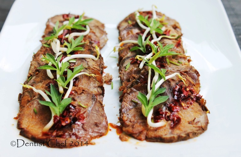 thinly sliced beef shank recipe cold appetizer chinese style beef shin soy sauce chili szechuan peppercorn