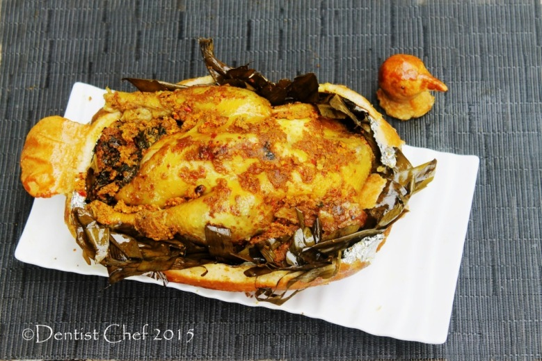 chicken betutu balinese style ayam panggang bumbu bali bungkus daun pisang ayam isi daun singkong