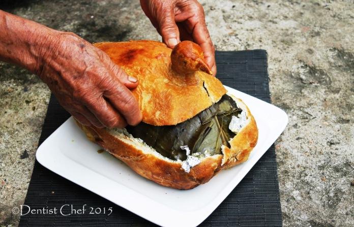 chicken salt crust oven roasted spring chicken spicy seasoning bali style ayam betutu chicken