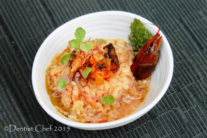lobster risotto recipe crayfish saffron tomato risotto germinated brown rice risotto