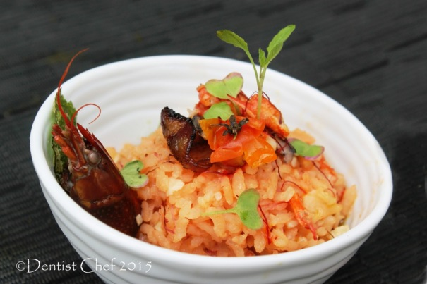 lobster saffron risotto recipe italian rice stew basil oil chorizo germinating brown rice risotto
