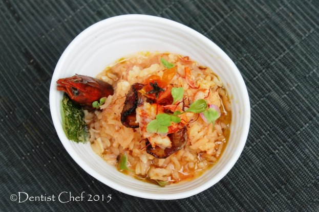 recipe crayfish risotto saffron tomato basil oil lobster rice risotto germinating brown rice
