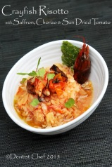 recipe crayfish risotto tomato saffron italian rice risoto germinated brown rice risotto
