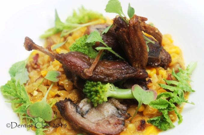 recipe quail confit fine dining braised lentil