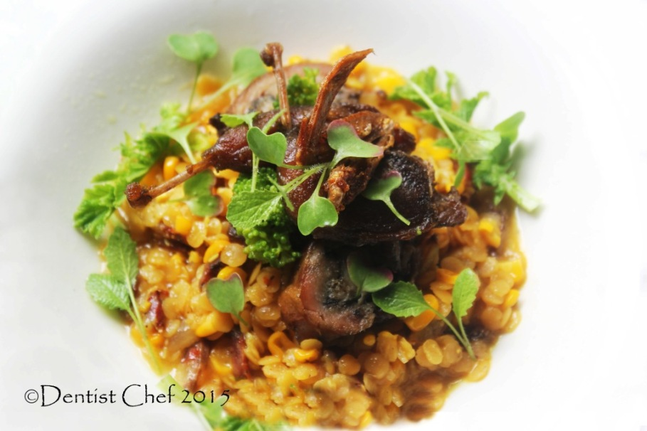 recipe stewed lentil saffron slow cooked chorizo spicy bacon  broth
