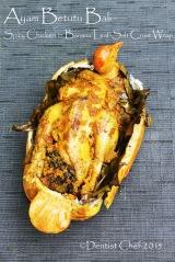 resep ayam betutu panggang bali balinese spicy chicken wrapped in banana leaves salt crust spicy chicken