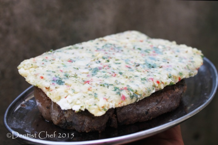bone marrow crusted steak beef sirloin herbs crust striploin black angus