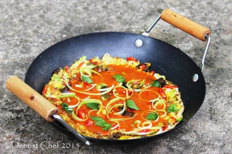 crispy oyster omelette egg omelet sweet sour sauce peanut taiwanese