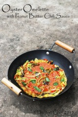 oyster omelette recipe crispy fried egg oyster scallion spicy omelette