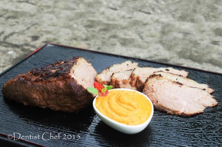 recipe beef steak romesco sauce roasted pepper pesto beef brisket sousvide beef belly tender