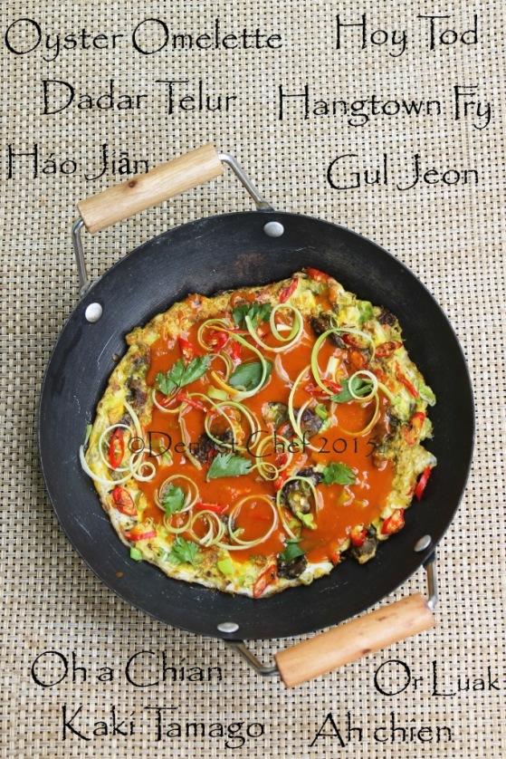 recipe oyster omelette egg korean guljeon chinese hao jian oh chian orh luak kaki tamago dadar telur japanese hoy tod