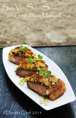 recipe sous vide sirloinsteak bone marrow crust crispy herbs crusted medium done beef