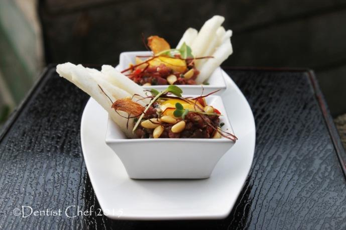 recipe yukhoe raw beef tenderloin recipe korean steak tartare korea pear sesame oil pine nuts