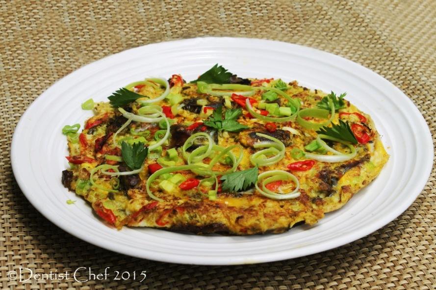 resep dadar tiram telur goreng singkawang tio ciu homemade oyster omelette fried egg fresh omelet spicy sauce peanut butter