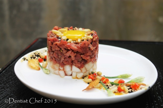 yukhoe recipe raw beef steak tartare korean beef  asian peer salad